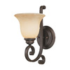 Millennium Lighting Oxford 6.5-in W 1-Light Rubbed Bronze Arm Hardwired Wall Sconce