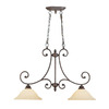Millennium Lighting Oxford 2-Light Rubbed Bronze Island Light