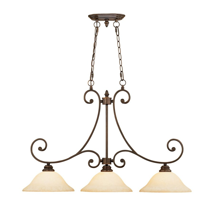 Lighting Oxford W 3 Light Rubbed Bronze Kitchen Island Light