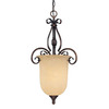 Millennium Lighting Auburn 14.5-in W Rubbed Bronze Hardwired Standard Pendant Light with Tinted Shade