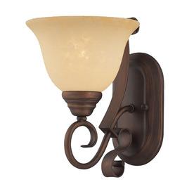 Millennium Lighting Auburn 7.5-in W 1-Light Rubbed Bronze Arm Hardwired Wall Sconce