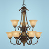 Millennium Lighting 9-Light Lexington Walnut Bronze Chandelier