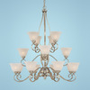 Millennium Lighting 16-Light Pelham Satin Nickel Chandelier