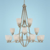 Millennium Lighting 16-Light Dover Satin Nickel Chandelier