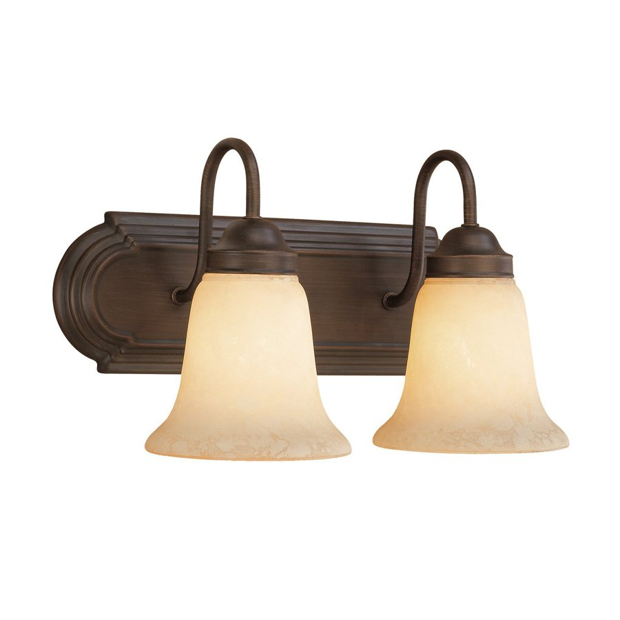 Shop Millennium Lighting 2-Light Rubbed Bronze Standard Bathroom Vanity Light at Lowes.com