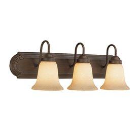 Millennium Lighting 3-Light Rubbed Bronze Standard Bathroom Vanity Light