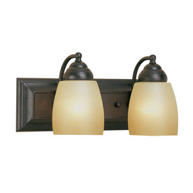 Shop Millennium Lighting 2 Light Burnished Gold Bathroom Vanity Light At Lowe