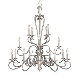 Millennium Lighting Devonshire 16-Light Satin Nickel/Silver Mist Chandelier
