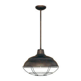 Millennium Lighting Neo Industrial 17-in W Rubbed Bronze Vintage Pendant Light with Metal Shade