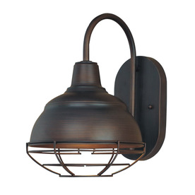 Millennium Lighting Neo-Industrial 8.25-in W 1-Light Rubbed Bronze Vintage Arm Hardwired Wall Sconce