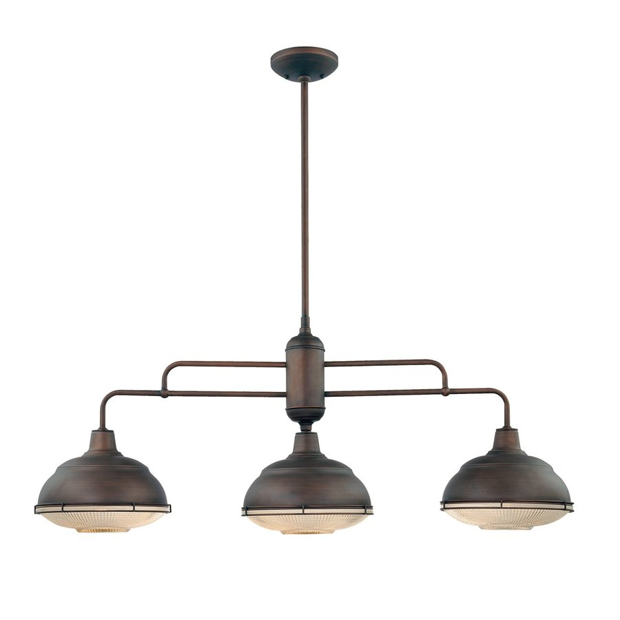 Shop Millennium Lighting Neo Industrial W 3 Light Rubbed Bronze Kitchen Island Light With Shade