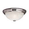 Millennium Lighting 13-in W Chrome Ceiling Flush Mount