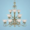 Millennium Lighting 16-Light Devonshire Vinatge Iron Chandelier