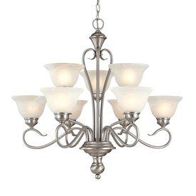 Millennium Lighting Devonshire 9-Light Satin Nickel Chandelier
