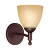 Millennium Lighting 6-in W Racine 1-Light Rubbed Bronze Arm Wall Sconce