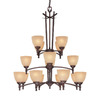 Millennium Lighting 16-Light Racine Rubbed Bronze Chandelier