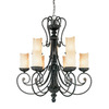 Millennium Lighting 9-Light Brunswick Burnished Gold Chandelier