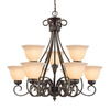 Millennium Lighting 9-Light Alma Bronze Chandelier