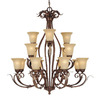 Millennium Lighting 16-Light Roanoke Burled Bronze Chandelier