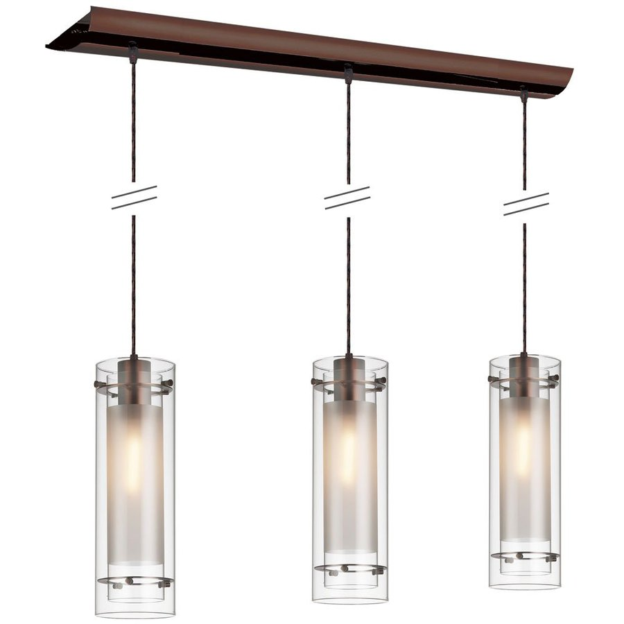 Kitchen Island with Clear Glass 3 Light Pendant 900 x 900