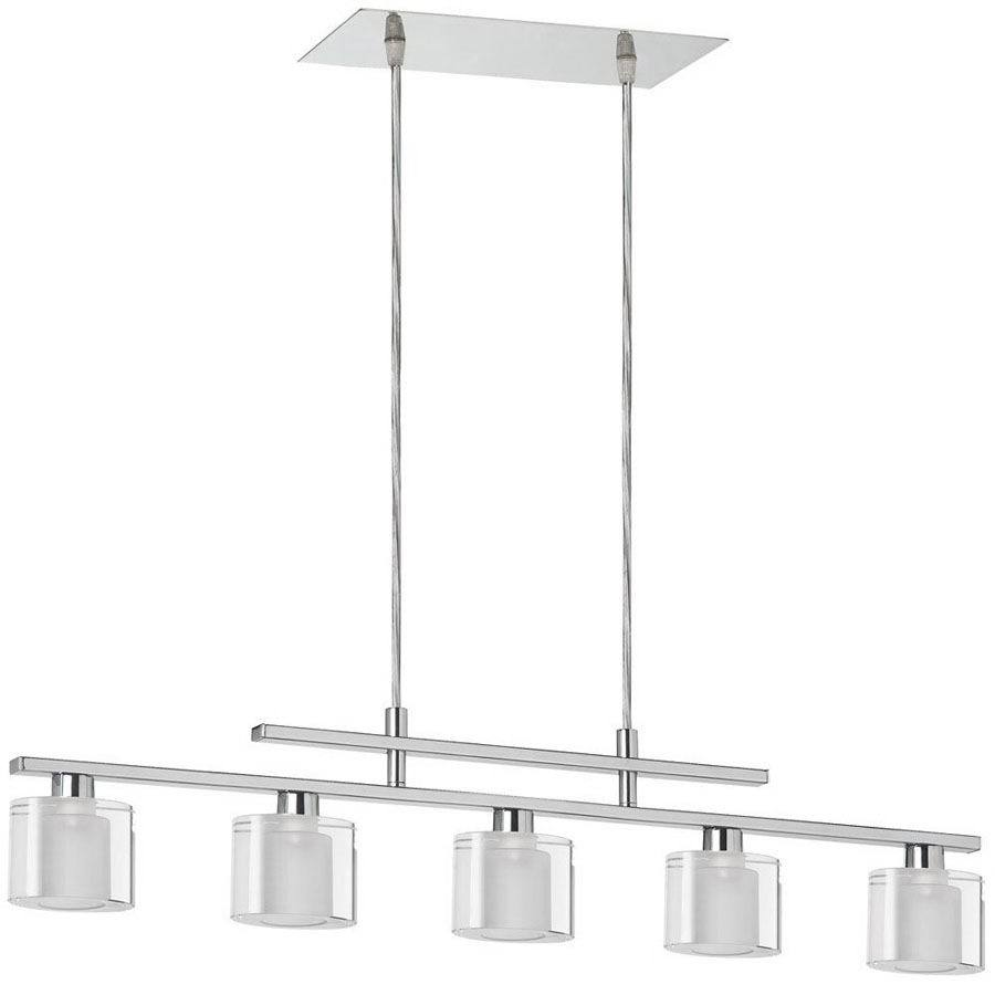 light polished chrome kitchen island light with shade at. Black Bedroom Furniture Sets. Home Design Ideas