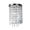 Dainolite Lighting 7-in W Cubix 1-Light Polished Chrome Arm Wall Sconce