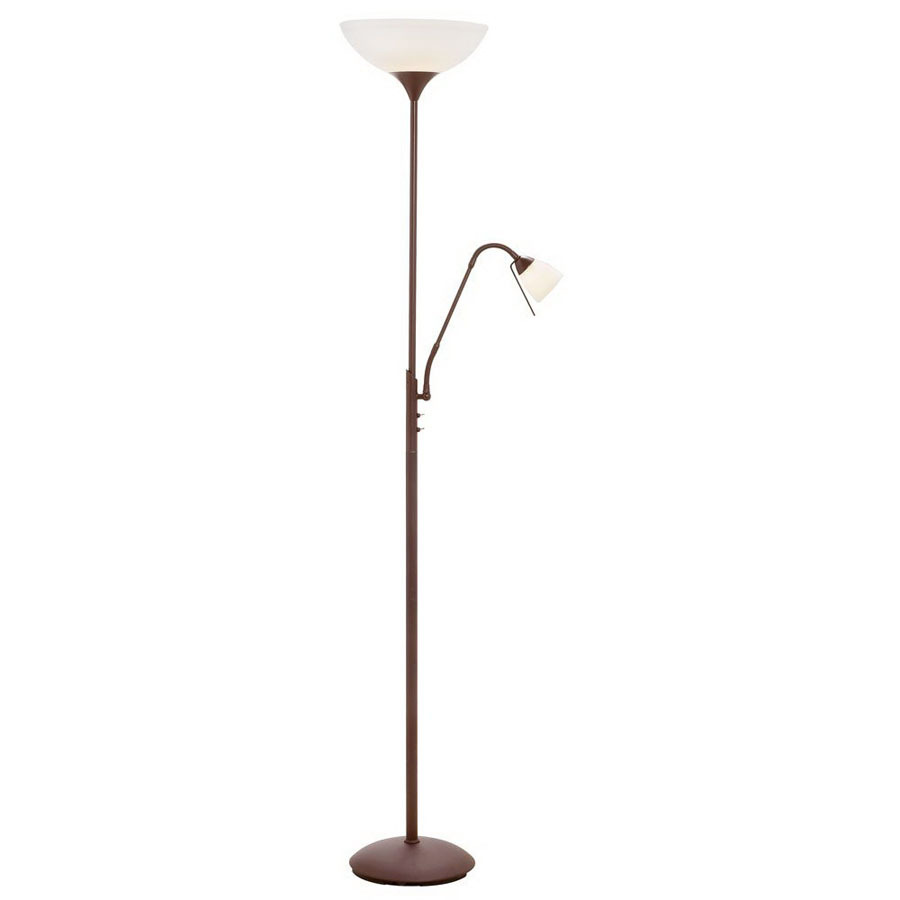 Shop dainolite lighting 72 in oil brushed bronze torchiere for Floor lamp vs torchiere