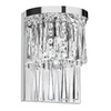 Dainolite Lighting 7-in W Josephine 1-Light Polished Chrome Crystal Accent Arm Wall Sconce