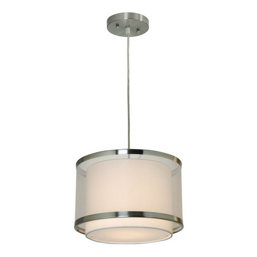 shop trend lighting 12 in w brushed nickel mini