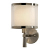 Trend Lighting 8-in W Lux 1-Light Brushed Nickel Arm Wall Sconce