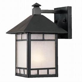 Acclaim Lighting Artisan 10-1/2-in Matte Black Outdoor Wall Light