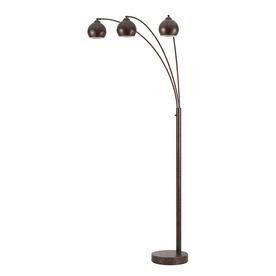 cal lighting 82 in 3 way switch rust multi head indoor floor lamp with. Black Bedroom Furniture Sets. Home Design Ideas