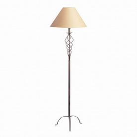 Cal Lighting 60-in 3-Way Switch Rust Shaded Floor Lamp Indoor Floor Lamp with Shade