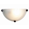 Access Lighting 12-in W Mona 1-Light Oil-Rubbed Bronze Pocket Wall Sconce
