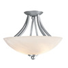 Access Lighting 15-1/2-in Satin Alabaster Glass Semi-Flush Mount Light