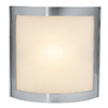 Access Lighting 7-1/2-in W Sentinel 1-Light Satin Pocket Wall Sconce