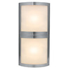 Access Lighting 8-in W Sentinel 2-Light Satin Pocket Wall Sconce