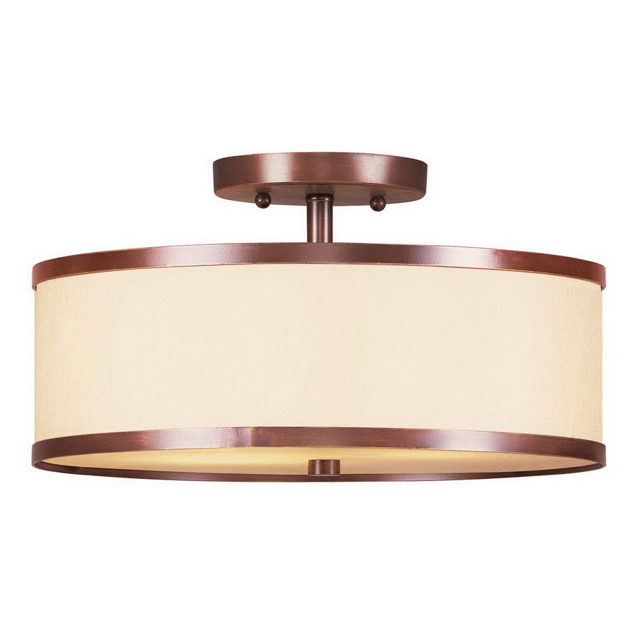 lighting 11 in w vintage bronze semi flush mount light at