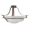 Thomas Lighting 22-in Colonial Bronze Clear Glass Semi-Flush Mount Light
