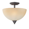 Thomas Lighting 13-in Painted Bronze Semi-Flush Mount Light