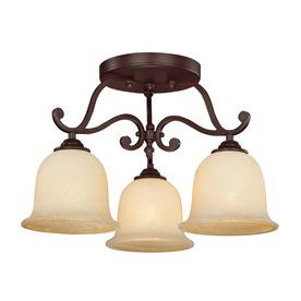 Millennium Lighting 20-in W Rubbed Bronze Semi-Flush Mount Light