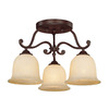 Millennium Lighting 20-in W Rubbed Bronze Semi-Flush Mount Light