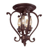 Millennium Lighting 12-in Rubbed Bronze Semi-Flush Mount Light