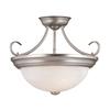 Millennium Lighting 15-in W Satin Nickel Alabaster Glass Semi-Flush Mount Light