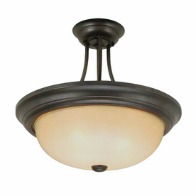 Millennium Lighting 13-in Burnished Gold Semi-Flush Mount Light