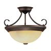 Millennium Lighting 15-in Rubbed Bronze Semi-Flush Mount Light