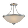 Millennium Lighting 16.75-in W Chrome Semi-Flush Mount Light
