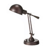 Dainolite Lighting 21-in Oil-Brushed Bronze Table Lamp with Shade