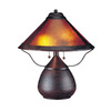 Cal Lighting 17-in Rust Indoor Table Lamp with Plastic Shade