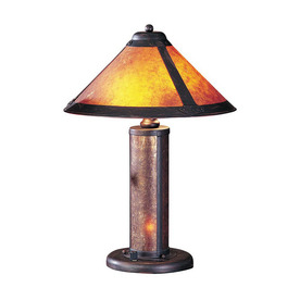 Cal Lighting 20-in Rust Indoor Table Lamp with Shade